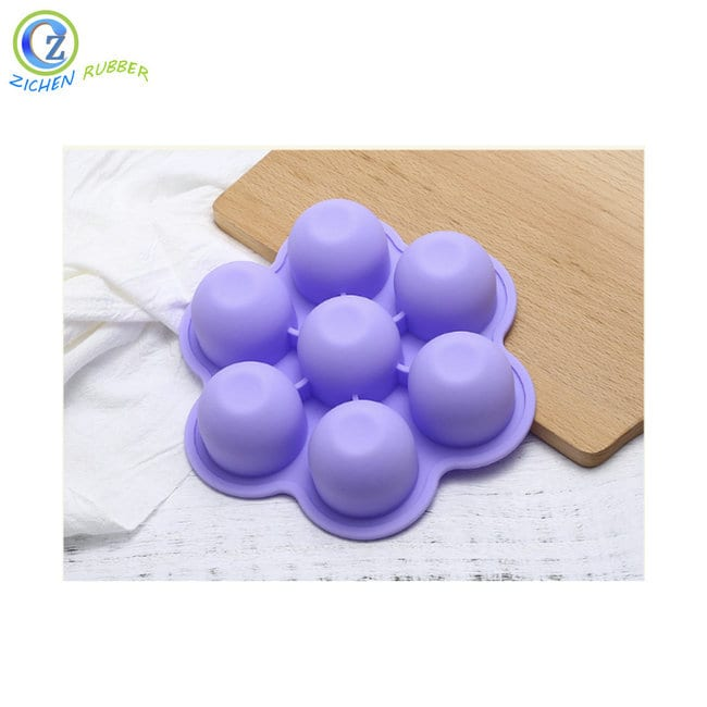 Factory wholesale Silicone Coffee Cup Sleeve - Flexible Ice Trays Custom Silicone Ball Shaped Ice Cube Tray – Zichen