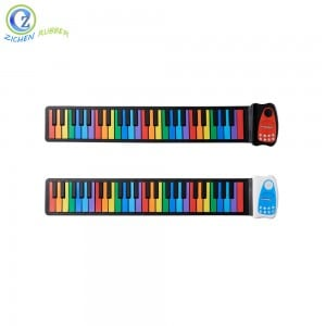 Promotional Children Toy Roll Piano 49k Best Silicon Flexible Roll Up Piano