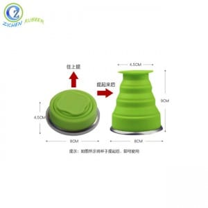 High Quality Reusable Baking Cups Custom Silicone Foldable Cup