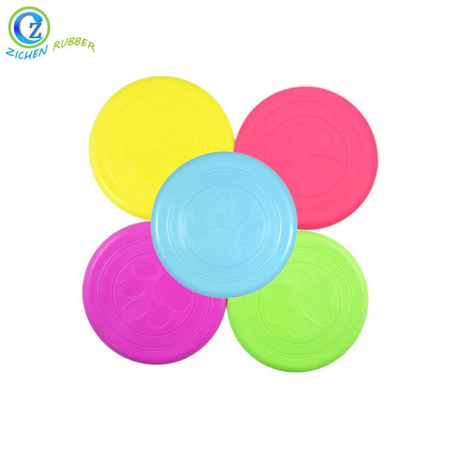 Hot Sale Custom Colorful Popular Silicone Rubber Pet Frisbee for Dog Featured Image