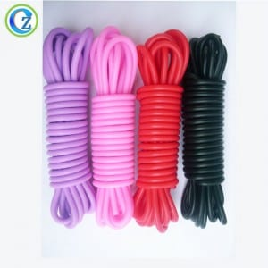 High Quality Custom Colorful Silicone Sex Bondage Cord Rope