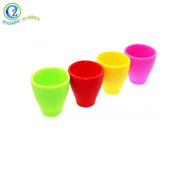High definition Folding Silicone Cup With Lid -