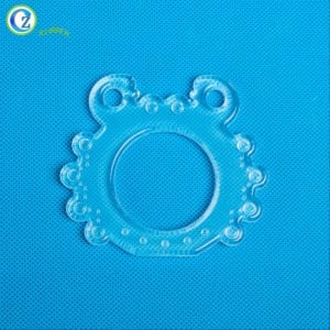 Custom BPA Free Baby Silicone Toys Teething Transparent Silicone Kids Toys