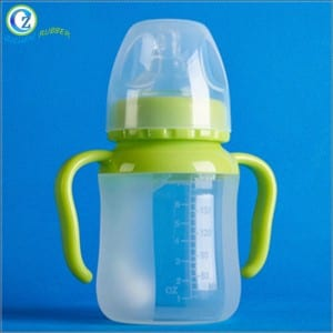Hot Sell Silicone Baby Feeding Bottle Eco-friendly Soft Silicone Baby Bottle