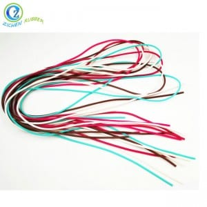 Custom Extruded Colorful Solid Silicone Rope Cord Round Rubber Foam Cord
