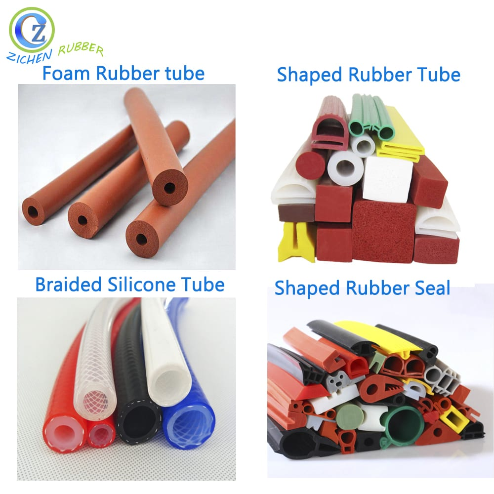 Shaped rubber seal tube