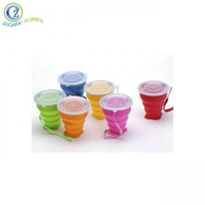 Bottom price Shenzhen Fancy Collapsible Silicone Folding Cup