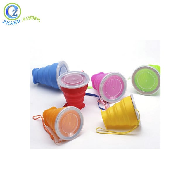 Factory wholesale Silicone Phone Card Holder - Reusable Silicone Tea Cup Custom Silicone Folding Cup with Lid – Zichen