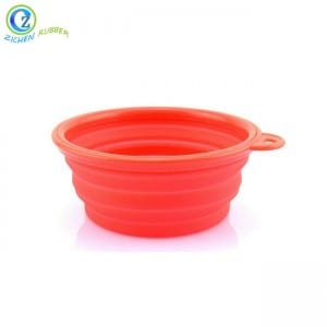 Custom Collapsible Silicone Dog Bowl High Quality Silicone Dog Bowl