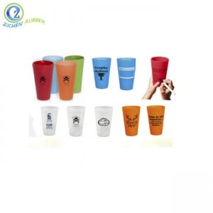 Eco-friendly Collapsible Silicone Measure Cups BPA Free Silicone Water Cup