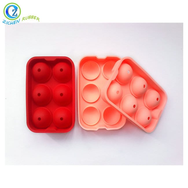 OEM manufacturer Engraved Silicone Wristband - Custom Silicone Ball Shaped Ice Cube Tray Large Ice Cubes – Zichen