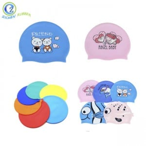 Custom Adult Silicone Swimming Cap Durable Promotional Silicone Rubber Swimming Caps