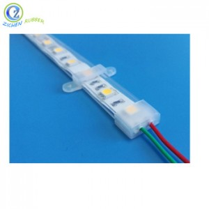 High Quality Transparent Rectangular Silicone Tube for LED Strip