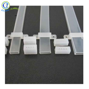 2019 China New Design Natural Rubber O Rings - High Quality Transparent Rectangular Silicone Tube for LED Strip  – Zichen