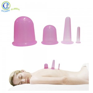 Transparent 100% FDA BPA Free Silicone Cupping Set High Quality Silicone Cupping