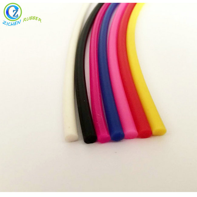 China OEM High Temperature Resistant Rubber Sealing Gasket - Customized Extrusions Silicon Rubber Cord High Quality Solid Silicone Cord  – Zichen