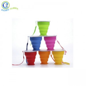 Custom Multifunctional Collapsible Silicone Coffee Cup Foldable Silicone Cup Silicone Collapsible Cup