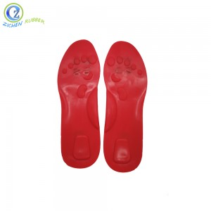 Comfortable Colorful Silicon Rubber Soft Massage Insole for Shock Absorption