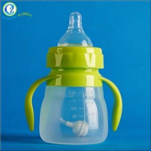 8 Ounce Silicone Baby Bottle BPA Free Baby Silicone Feeding Bottle