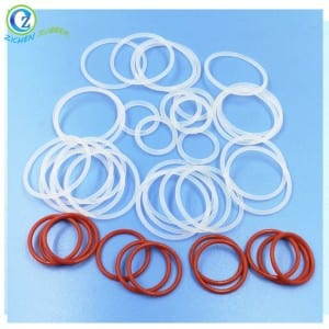 Translucent FDA Silicone O Ring Custom Rubber Seal O Ring