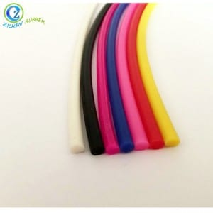 China OEM High Temperature Resistant Rubber Sealing Gasket - Colorful Round Dense FDA Silicone Sealing Strip – Zichen