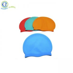 Custom Colorful Eco-friendly Durable Cheap FDA Silicone Swimming Cap