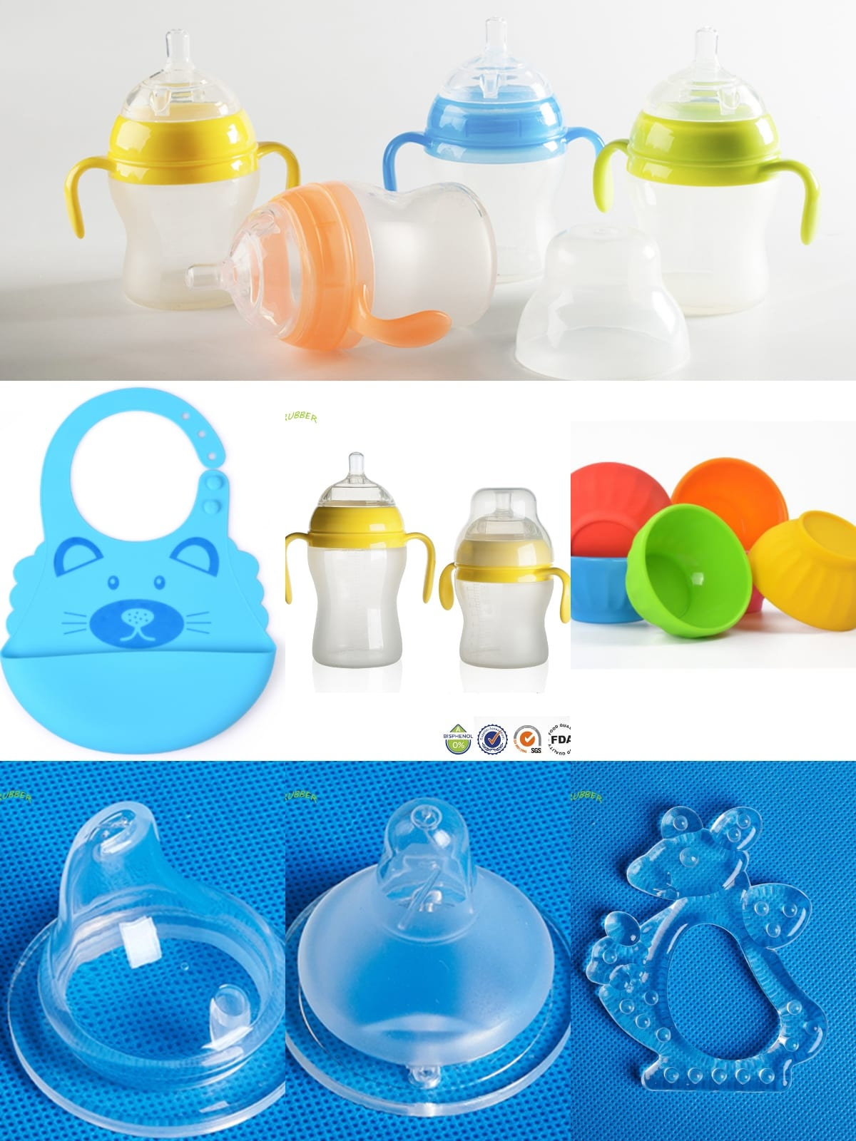 Silicone parts for baby products
