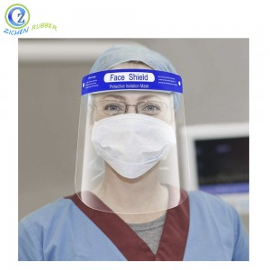 Reusable Plastic Full Face Transparent Safety Face Shield Custom Protective Face Shield Visor with Eye Head Protection