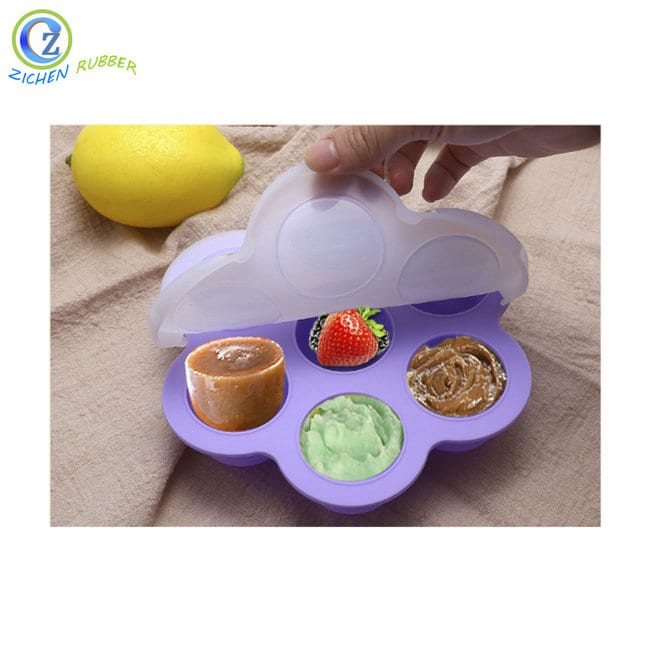 High Quality Silicone Kids Sucker Jigsaw Puzzle Toy - Custom Food Grade Silicone Ice Cube Tray With Lid – Zichen