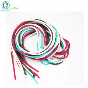 Soft Flexible Eco-friendly BPA Free FDA Silicone Rubber Strip Cord