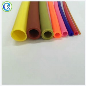 OEM Customized Soft Customized Extruded Silicone Rubber Tube Fda Colored Silicone Tubing